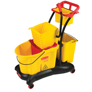 RUBBERMAID-WaveBrake® Mopping Trolley Side Press