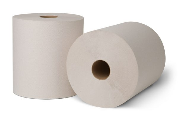 """ROLL TOWEL - 8"""" WHITE - 800'/ROLL"""