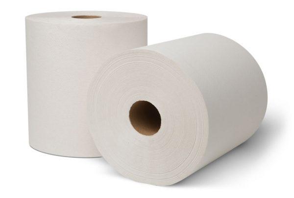 "WHITE ROLL TOWEL 8"" X 630'"