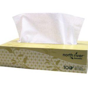 CASCADES - 4082 Facial Tissue North River® Flat Box 100 sheets