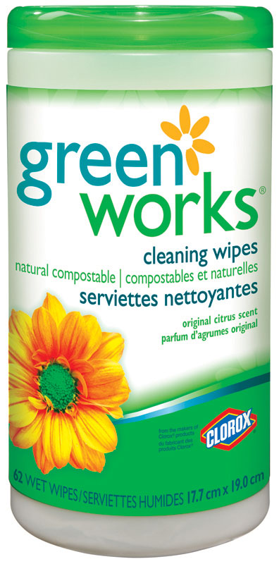 CLOROX-Green Works Natural Compostable Wipes