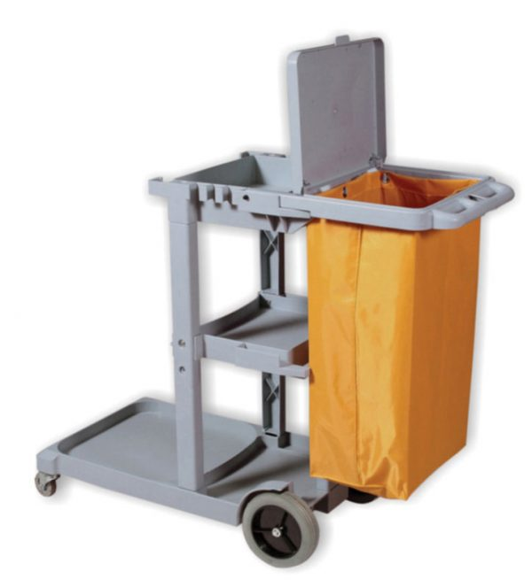 DURAPLUS-Janitor Cart with Lid&Vinyl Bag