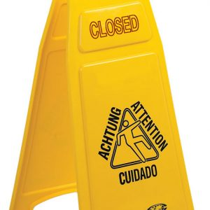 CONTINENTAL-Wet Floor Sign-Closed Wet Floor Multilingual