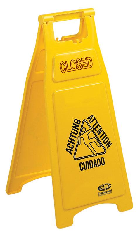 CONTINENTAL-Wet Floor Sign-Closed Wet Floor Multilingual