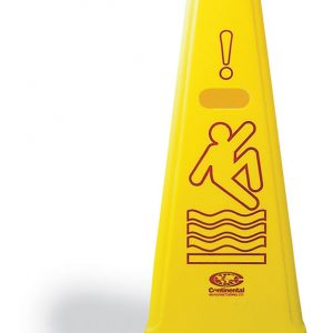 CONTINENTAL-Safety Cone-Wet Floor Multilingual