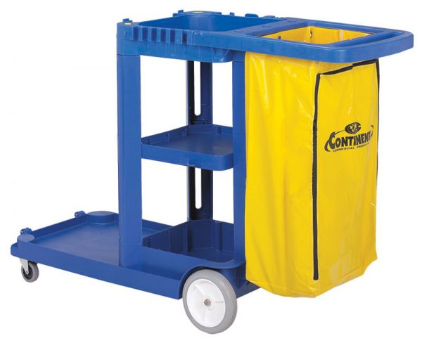 CONTINENTAL-Janitor Cart with Vinyl Bag