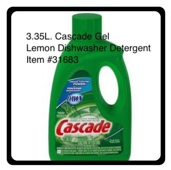 CASCADE GEL DISHWASHER DETERG