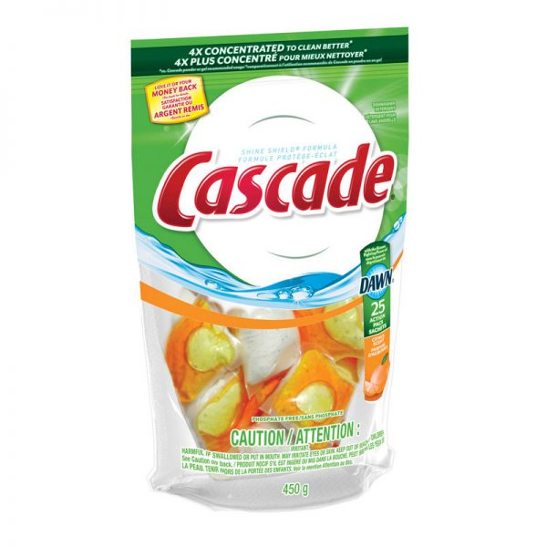 PROCTER&GAMBLE-Cascade ActionPacs With Dawn-Citrus Scent