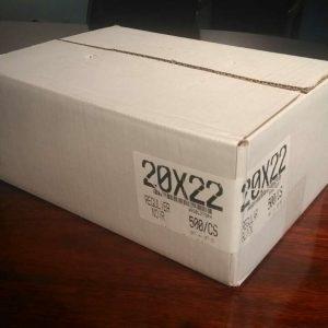 20X 22 GARBAGE BAGS BLACK REGULAR