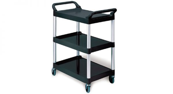 RUBBERMAID-Utility Cart with 4 Swivel Casters
