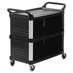 RUBBERMAID-Xtra Utility Cart-Enclosed 3 Sides