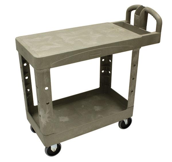 RUBBERMAID-2 Shelf Utility Cart with Flat Shelf