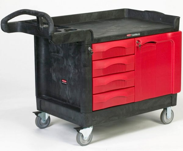 RUBBERMAID-TradeMaster Cart with 4 Drawer&Cabinet