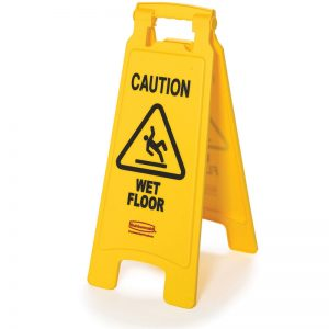 RUBBERMAID-Double Sided Sign-Caution Wet Floor