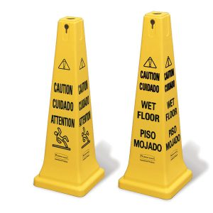 RUBBERMAID-Safety Cone-Caution Multilingual