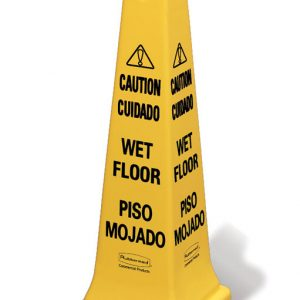 RUBBERMAID-Safety Cone-Caution Wet Floor Multilingual