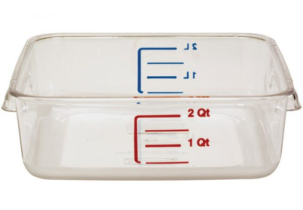 RUBBERMAID-Space Saving Square Container