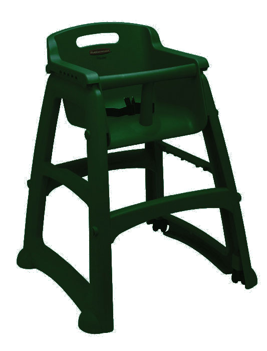 RUBBERMAID-Sturdy Chair With Wheels Assembled