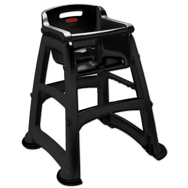 RUBBERMAID-Sturdy Chair Without Wheels Unassembled