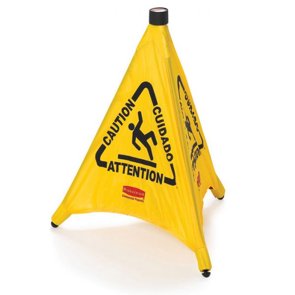 RUBBERMAID-Pop-Up Safety Cone-Caution Multilingual