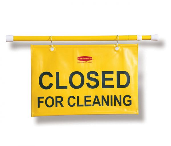 RUBBERMAID-Hanging Sign-Closed For Cleaning