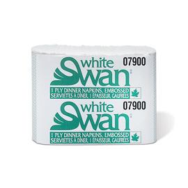 SCO - 07900 White Swan® 1-Ply Dinner, 8 Fold