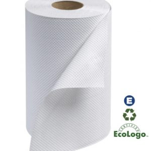 8'' WHITE ROLL TOWEL 206'/ 24/CS