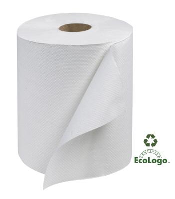 WHITE ROLL TOWEL 12X600'