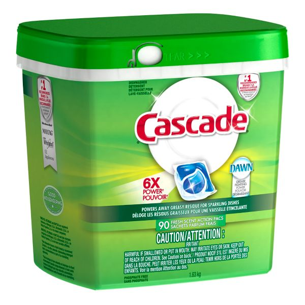 PROCTER&GAMBLE-Cascade ActionPacs With Dawn-Fresh Scent