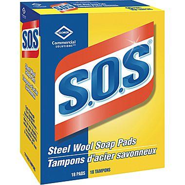 CLOROX-S.O.S Steel Wool Soap Pads